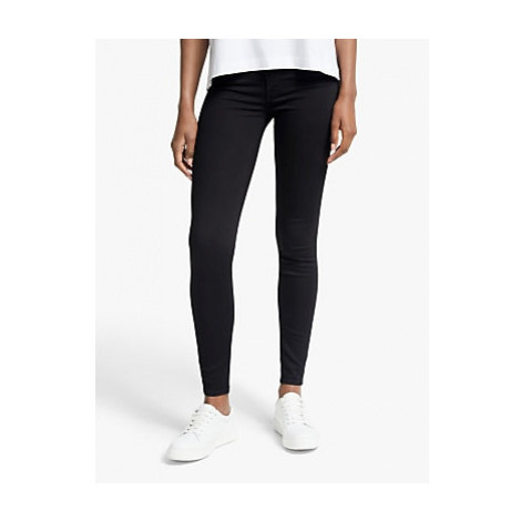 7 For All Mankind Skinny Slim Illusion Luxe Jeans, Rinse Black