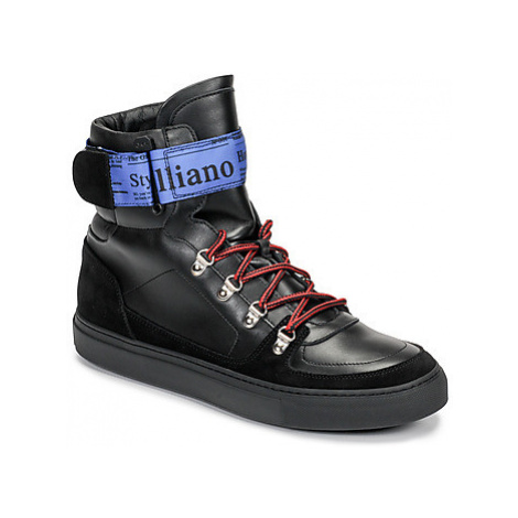 John Galliano 8526 men's Shoes (High-top Trainers) in Black