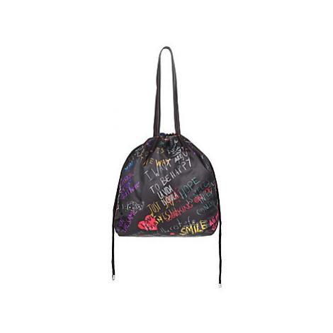 Desigual GRAFFITI WALL TALLIN women's Shoulder Bag in Black