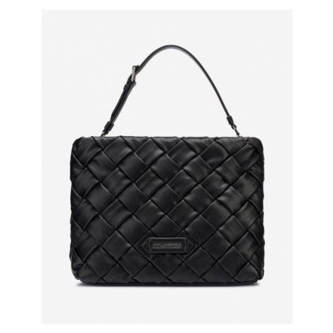 Karl Lagerfeld Kushion Braid Tote Handbag Black