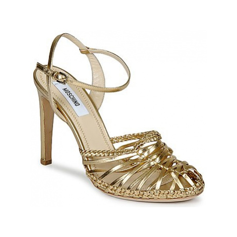 Moschino MA1603 women's Sandals in Gold