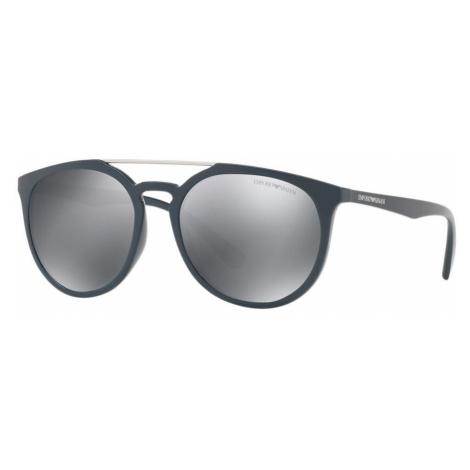 Emporio Armani Man EA4103 - Frame color: Blue, Lens color: Silver, Size 56-18/140