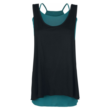 Forplay - Two in One Dress - Dress - black/petrol