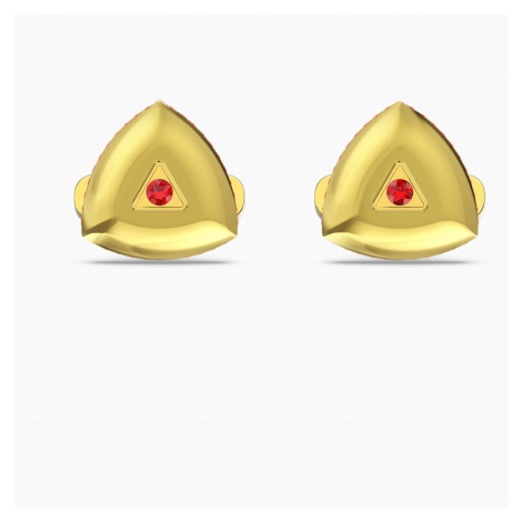 Theo Fire Element Cufflinks, Red, Gold-tone plated Swarovski