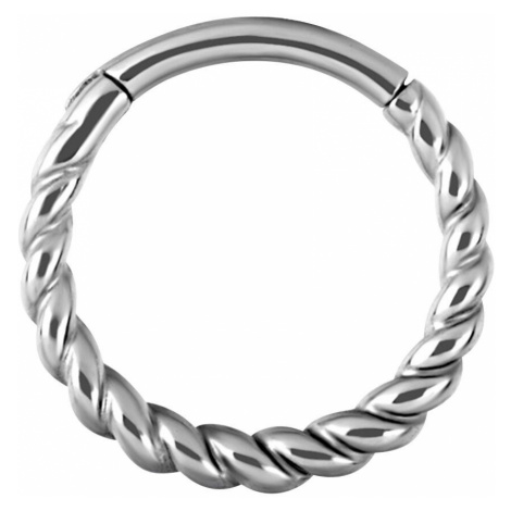 Wildcat Twisted Rope Ring silver coloured