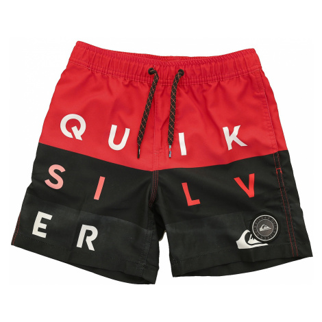 swimming shorts Quiksilver Word Block Volley 15 - RQC6/High Risk Red - boy´s