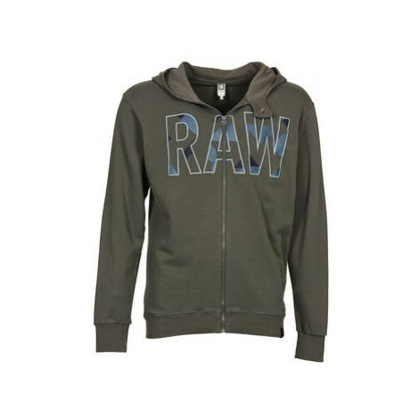 G-Star Raw MOIRIC HOODED VEST SW L/S men's Sweatshirt in Green