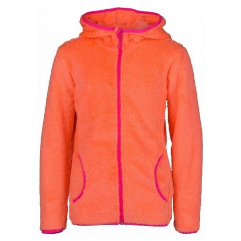 Lewro NELDA orange - Girls' fleece sweatshirt