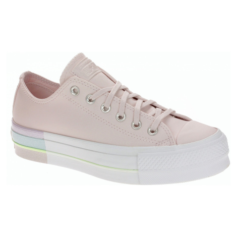shoes Converse Chuck Taylor All Star Lift Rainbow Midsole OX - 566250/Barely Rose/Polar Blue - w