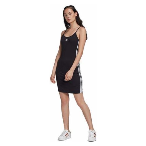 dress adidas Originals Spagetti Strap Dress - Black/White - women´s