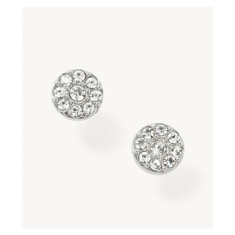 Fossil Women's Disc Silver-Tone Studs -Silver
