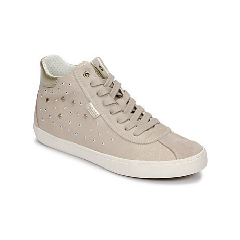 Geox J KILWI GIRL girls's Children's Shoes (High-top Trainers) in Beige