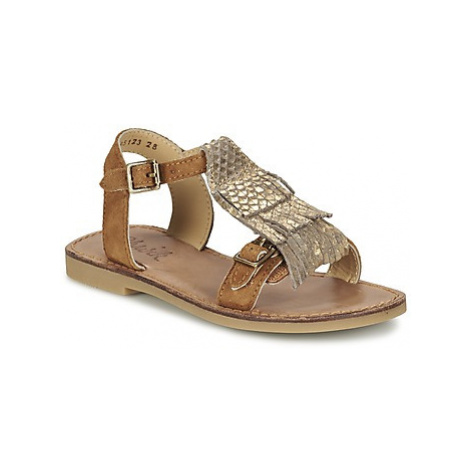 Shwik LAZAR BI FRINGE girls's Children's Sandals in Brown
