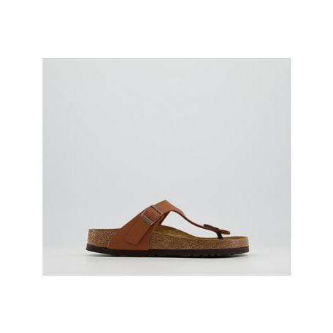 BIRKENSTOCK Toe Thong Footbed Sandals GINGER BROWN