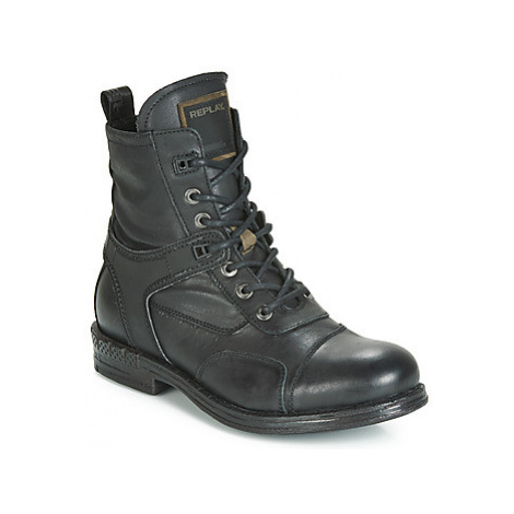 Replay FINVOI men's Mid Boots in Black