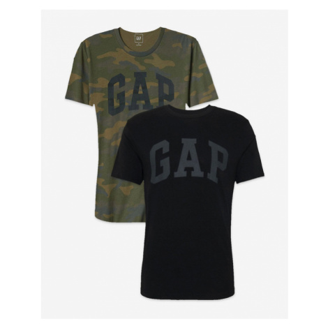 GAP T-shirt 2 Piece Black Green