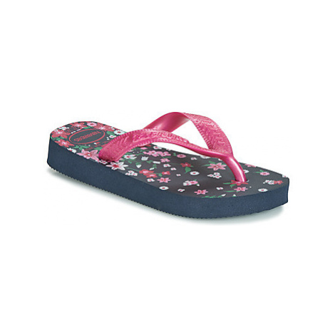Havaianas KIDS FLORES girls's Children's Flip flops / Sandals in Blue