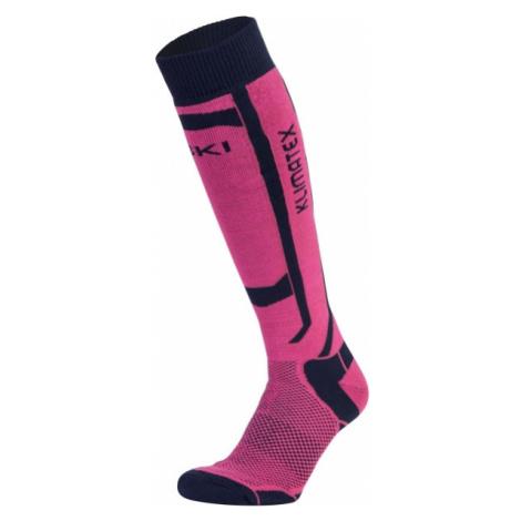Klimatex ASPEN1 blue - Women's ski knee socks