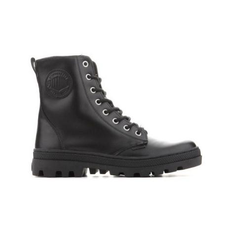 Palladium Pallabosse Off Lea 95527-008-M women's Mid Boots in Black