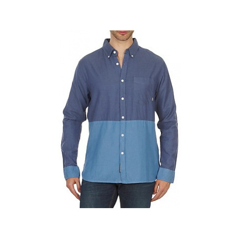 Element BRENTWOOD men's Long sleeved Shirt in Blue