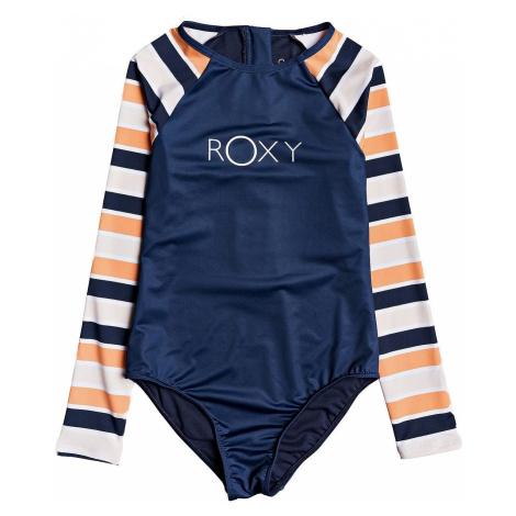 swimsuit Roxy Made For Roxy Onesie LS - NHJ3/Cadmium Orange Pong Stripes - girl´s