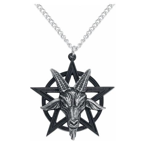 Alchemy Gothic Baphomet Pendant Necklace black silver