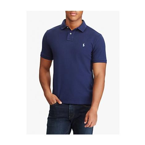 Polo Ralph Lauren Slim Fit Mesh Polo Shirt, Newport Navy