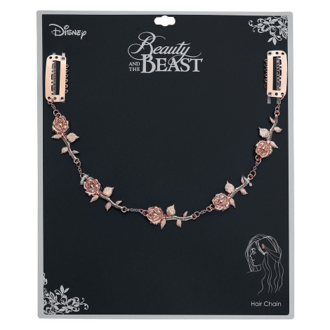 Beauty and the Beast Rose Hair Chain Hairslide copper coloured