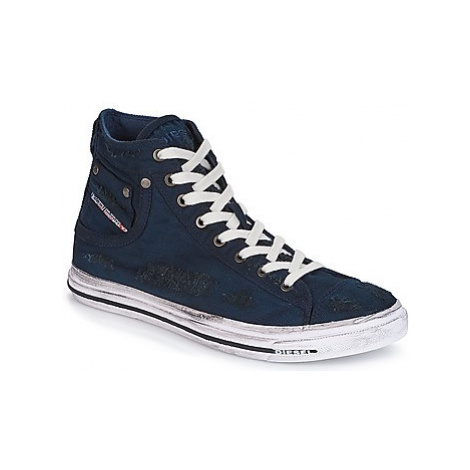 Diesel EXPOSURE I men's Shoes (High-top Trainers) in Blue