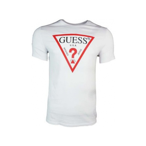 Guess CN Original Logo Core Tee men's T shirt in White