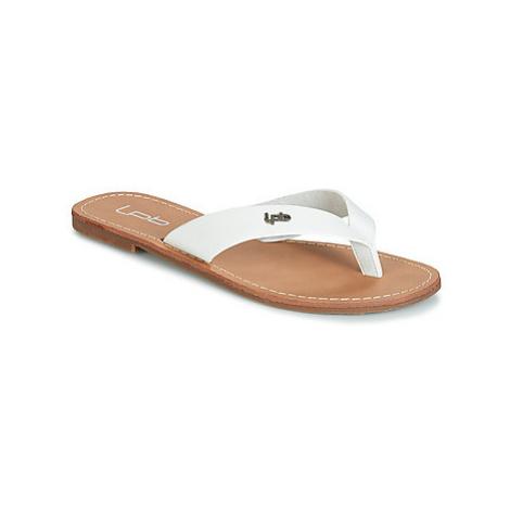 Les Petites Bombes PRISKA women's Flip flops / Sandals (Shoes) in White