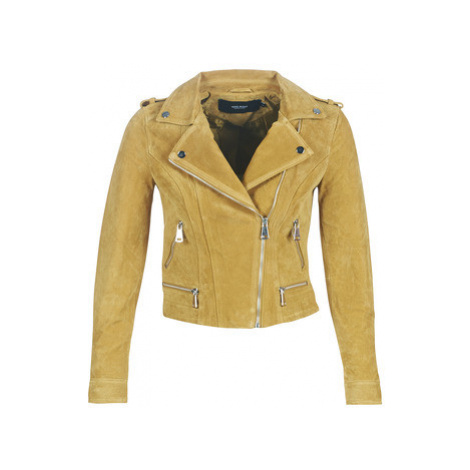 Vero Moda VMROYCE women's Leather jacket in Yellow