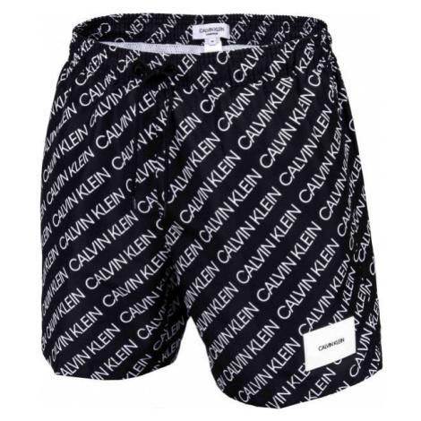 Calvin Klein MEDIUM DRAWSTRING-PRINT black - Men's swim shorts