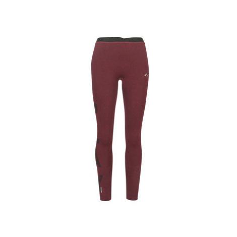 Red women's sports leggings