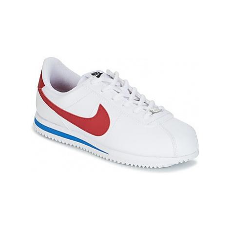 Nike CORTEZ BASIC SL GRADE SCHOOL boys's Children's Shoes (Trainers) in White