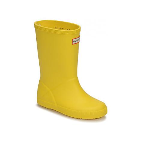 Hunter KIDS FIRST CLASSIC girls's Children's Wellington Boots in Yellow