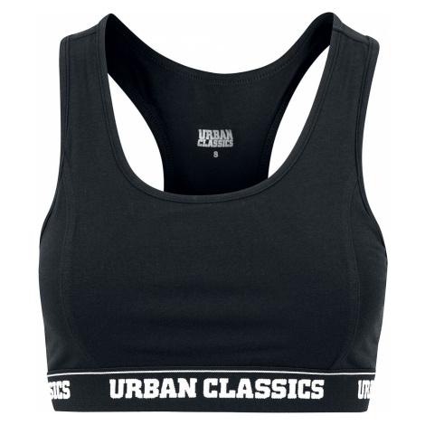 Urban Classics Ladies Logo Bra Bustier black