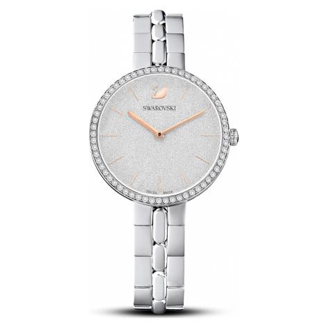 Cosmopolitan Watch, Metal bracelet, White, Stainless steel Swarovski