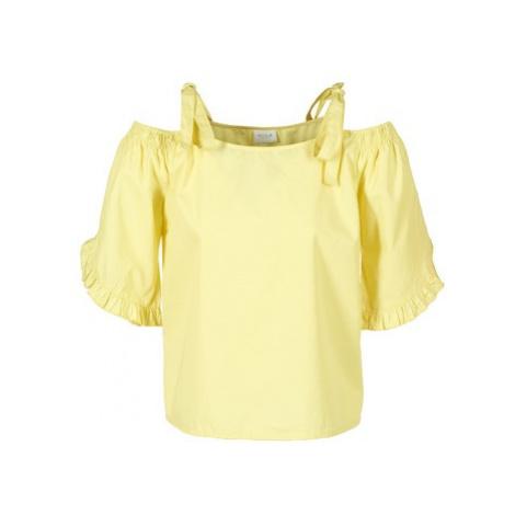 Vila VIMORNI women's Blouse in Yellow