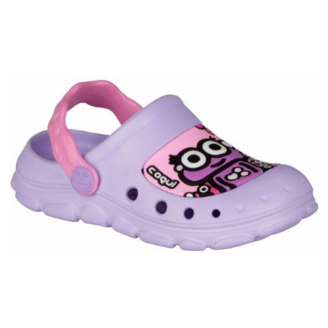 Coqui STONEY purple - Children's sandals