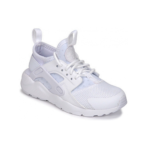 Nike HUARACHE RUN ULTRA PRE-SCHOOL girls's Children's Shoes (Trainers) in White