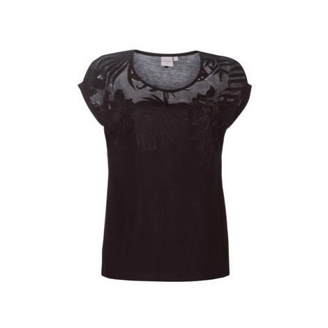 Cream VANLIE women's T shirt in Black