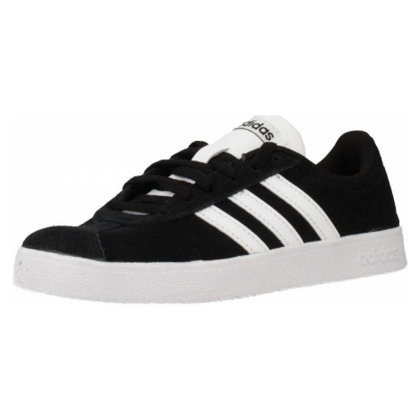 Adidas VL COURT 2.0 K boys's Children's Shoes (Trainers) in Black