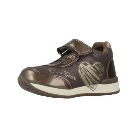 Geox B RISHON G girls's Children's Shoes (Trainers) in Grey