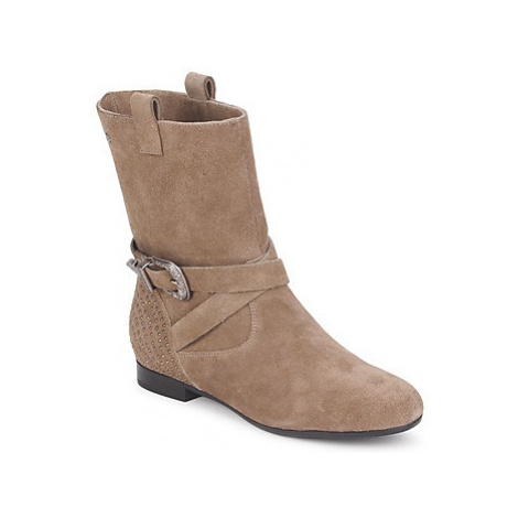 Couleur Pourpre TAMA women's Mid Boots in Brown