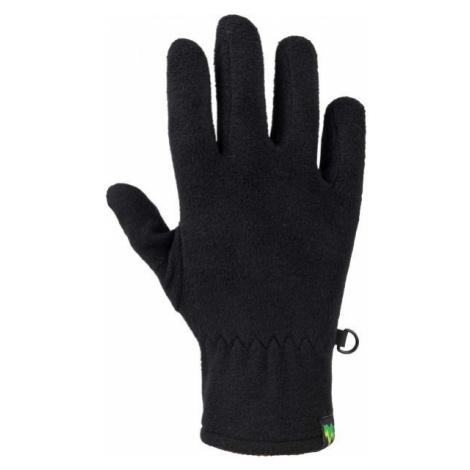 Lewro EMILIO black - Children's fleece gloves