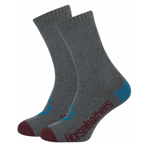 socks Horsefeathers Loby Crew - Heather Gray