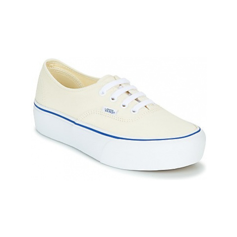 Vans AUTHENTIC PLATFORM 2.0 women's Shoes (Trainers) in White