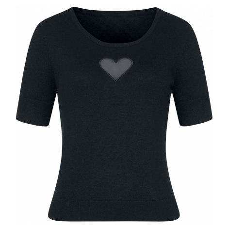 Hell Bunny - Heart Top - Girls shirt - black