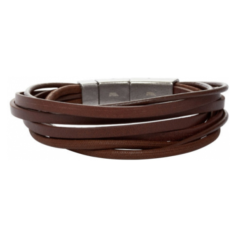 Fossil Men Multi-Wrap Bracelet - Brown - One size